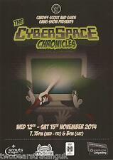 Event Promo Flyer: The Cyberspace Chronicles (New Theatre, Cardiff, 2014)