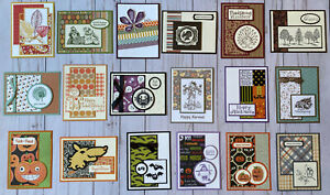 18 Fall Autumn Thanksgiving Halloween greeting cards envelopes Stampin' Up! more