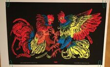 Fight Vintage Blacklight Poster Psychedelic Original Houston Rooster's Fighting