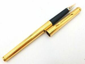 Y5411  RARE!! PARKER Fountain Pen Gold Black    XM
