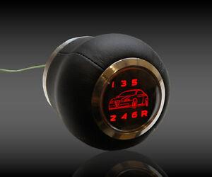 ALFA Romeo    SPEED SHIFT GEAR KNOB RED LED ILLUMINATED  166 159 147 156 6 SPEED