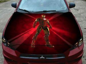 Vinyl Car Hood Wrap Full Color Graphics Decal Iron Man Power Custom Sticker