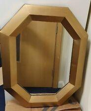 Bnwt Metal Geometric Antique Gold Mirror