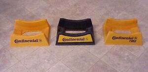 3 Piece Lot  3 Different Vintage CONTINENTAL TIRE DISPLAY STAND .. VERY NICE