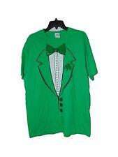 ST PATTIES DAY GREEN TUX T-SHIRT SIZE LARGE NWOT IRISH IRELAND ST PATRICKS DAY