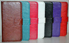 Leather Wallet Flip Case Cover For HTC One M8, Hold Cards & Notes, Book Style