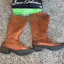 Sam Edelman Penny Brown Leather Tall Knee High Riding Womens Boots Size 8 Medium