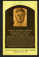 JOE CRONIN SIGNED  HOF PLAQUE AUTOGRAPHED POSTCARD JSA