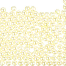 ROUND IN ACRILICO Finta Perla Perline 6 mm Crema di Luce-Confezione da 200 (F70/2)