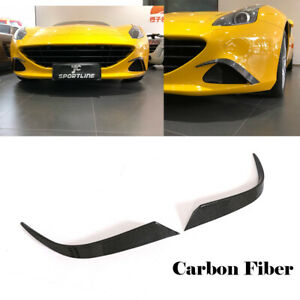 Front Side Fender Air Vent Fins Fit For 15-18 Ferrari California T Carbon Fiber