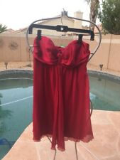 Express Valentine Christmas Party Sexy Red Tube Dress Size 2 Small Worn Once