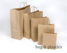 More details for twist handle ribbed paper block bottom carrier bags - white or brown