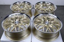 17 5x120 Gold Wheels Fits BMW 323 325 128 135 318 328 Z3 CTS 5 Lug Rims