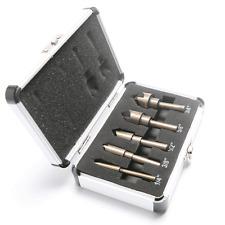 "5pcs Industrial Countersink Drill Bit Set Round Shank Quick Change 1/4""-3/4"""