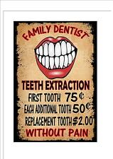 Vintage Style Dentist Sign Dentist Retro Style Sign Kitchen Sign