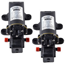 2 Pack SINGFLO Automatic 12V 1 GPM 80 PSI Water Pump f Boat RV 4 Year Warranty