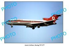 OLD 6 x 4 PHOTO ANSETT AIRLINES BOEING 727 277 AIRCRAFT