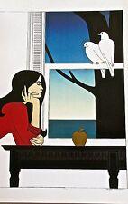 Will Barnet Poster of Atalanta Young Woman Contemplating a Pear- 16X11