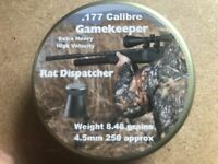 Gamekeeper Rat Dispatcher  Air Gun Pellets, .177/4.5mm, Qty 250, Free P&P