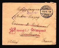 Germany 1916 POW Cover / Censored / MECKESHEIM CDS - Z14467
