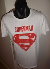 Superman Women's White & Red T-Shirt Brand New Size 16
