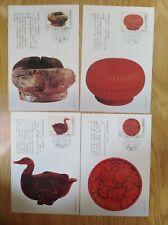set of 4 maximum postcard-1993-Ancient Chinese lacquerware