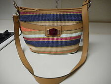 Rosetti Roundabout Shoulder Convertible Bag Bungalow Straw   $49 NEW