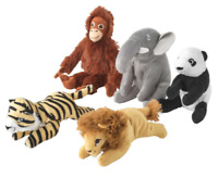 Ikea DJUNGELSKOG Soft toy Monkey Elephant Panda Tiger Lion Small Animals - 14cm
