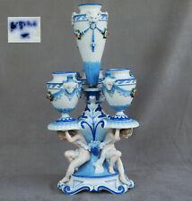 KPM Kister Scheibe Alsbach Vase Bouquetière Porcelaine de Saxe XIXème Siècle