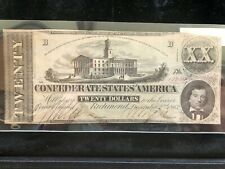 Confederate Currency 1862 Twenty Dollar T-54 Repaired