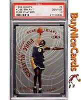 1999 Kobe Bryant Hoops Pure Players SP Insert /500 PSA 10 Gem Mint