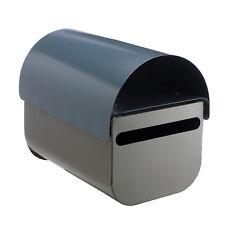 Sandleford BUDDY POST MOUNT LETTERBOX 190x225x285mm Galvanised Steel GREY/BLUE