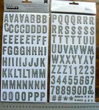 Stamped PRINTSHOP Grey 26mmHigh & 5-22mmWide 134Alphabet & Numbers UpperCase L3L