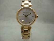 Authentic BNIB Karl Lagerfeld KL5004 Aurelie White Dial Gold Tone Women's Watch