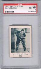 1951 Bas Du Fleuve Hockey Card Mont-Joli #41 Marcel Houde Graded PSA 7.5