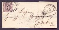 Thurn + Taxis 1853 - Faltbrief 6Kr. MiNr. 9 aus Wiesbaden - Michel 50,00 € (636)