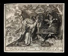 santino incisione 1600 S.AMATO AB. DI REMIREMONT   c. van boekel