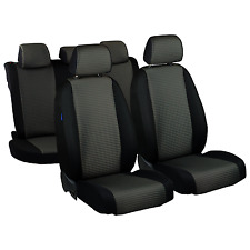 TAILORED CAR SEAT COVERS FOR SKODA FABIA II 2 FULL SET PLATINUM BLACK