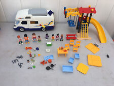 Playmobil Vacation Motor Home Playground Furniture Picnic Table People LOT