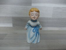 2 Little biscuit porcelain angel ornaments - cherub - 2 X engel in porselein