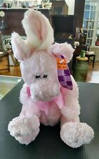 """Animal Adventure Pink Pig Pink bow Gingham Bow Plush 10"""" Toy 2004 e23 with tags"""