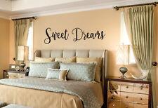 SWEET DREAMS vinyl wall lettering quote decor/sticker bedroom nursery