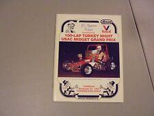 November 25,1982 Usac Midget Race Turkey Night Program,Ascot,Gardena,Ca. Shuman