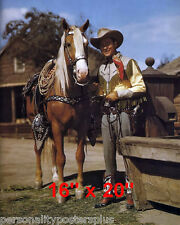 """Roy Rogers~Trigger~Personality Poster~Color~16"""" x 20"""" Photo"""