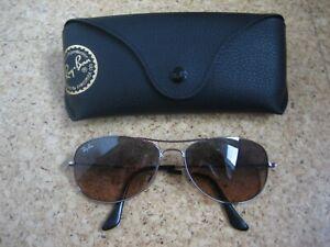 Ray Ban Sonnebrille 3362 Silber - Braune Gläser, mit Hülle