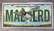 AMERICAN EXPEDITION MALLARD VANITY LICENCE PLATE CELEBRATE AMERICA WILDLIFE NEW
