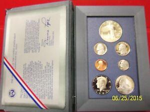 1986-S Proof PRESTIGE SET 7 Coin w/Box and Cert w/SILVER