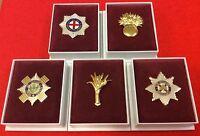 Coldstream Guards Grenadier Guards Scots Welsh Irish Guards Enamel Lapel Badge