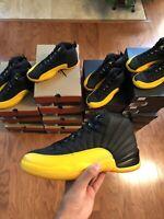 "Nike Air Jordan 12 ""University Gold"" Yellow Black Retro - MENS and GS SIZES -NEW"