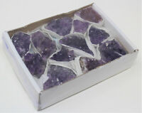 Wholesale Bulk Natural Amethyst Crystal Clusters: 10-17 Piece Lot (Quartz Geode)